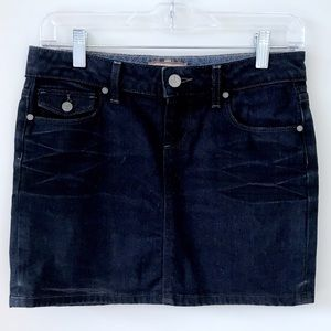 Paige dark wash mini skirt Sz 25